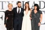 Director Sam Taylor-Johnson, actors Jamie Dornan, Dakota Johnson and author E.L. James