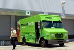 A parked Amazon Fresh truck.