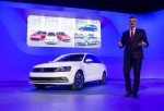 NEW YORK - APRIL 16: Michael Horn, President and CEO of Volkswagen Group of America stands next to the 2015 Volkswagen Jetta, speaks during a media preview of the 2014 New York International Auto Show April 16, 2014 in New York City.