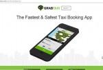 A screen shot of the GrabTaxi website