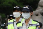 Police officers in South Korea