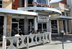 People eat at a Chipotle Mexican Grill in Beverly Hills
